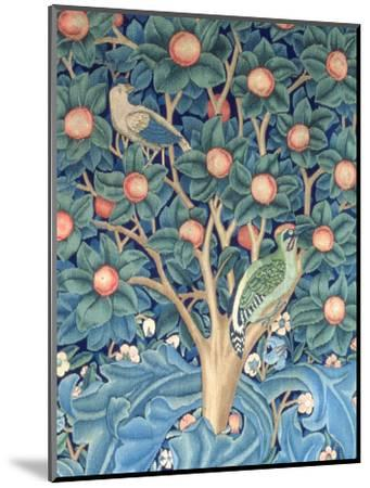 The Woodpecker Tapestry, Detail of the Woodpeckers, 1885 (Tapestry)-William Morris-Mounted Premium Giclee Print