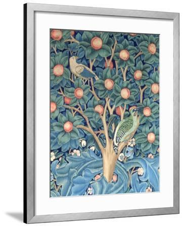 The Woodpecker Tapestry, Detail of the Woodpeckers, 1885 (Tapestry)-William Morris-Framed Giclee Print
