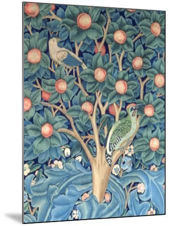 The Woodpecker Tapestry, Detail of the Woodpeckers, 1885 (Tapestry)-William Morris-Mounted Giclee Print