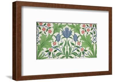 Floral Wallpaper Design-William Morris-Framed Premium Giclee Print
