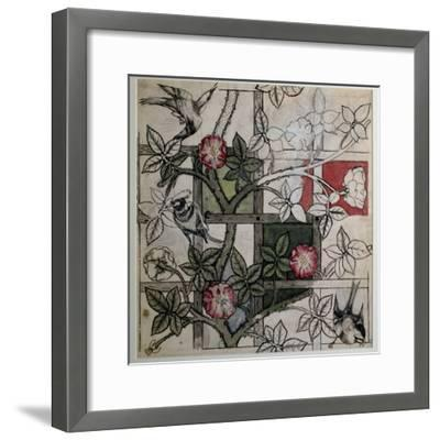Original Artwork for 'Trellis' Wallpaper Design, 1862 (W/C on Paper)-William Morris-Framed Premium Giclee Print
