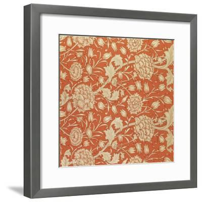 Tulip Wallpaper Design, 1875-William Morris-Framed Giclee Print
