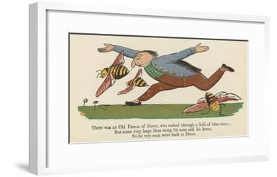 There Was an Old Person of Dover, Who Rushed Through a Field of Blue Clover-Edward Lear-Framed Giclee Print