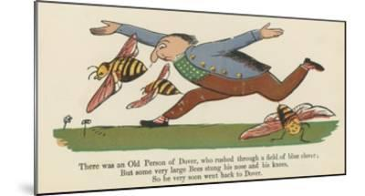 There Was an Old Person of Dover, Who Rushed Through a Field of Blue Clover-Edward Lear-Mounted Giclee Print