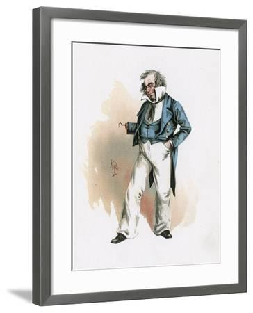 Captain Cuttle, Illustration from 'Character Sketches from Charles Dickens', C.1890 (Colour Litho)-Joseph Clayton Clarke-Framed Giclee Print