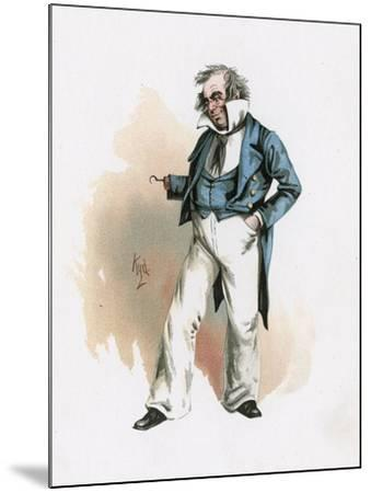 Captain Cuttle, Illustration from 'Character Sketches from Charles Dickens', C.1890 (Colour Litho)-Joseph Clayton Clarke-Mounted Giclee Print