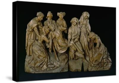 The Lamentation, 1460 (Oak with Traces of Polychromy)- Master of the Arenberg Lamentation-Stretched Canvas Print