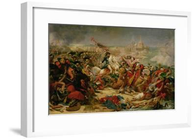 Murat Defeating the Turkish Army at Aboukir on 25 July 1799, C.1805-Baron Antoine Jean Gros-Framed Giclee Print
