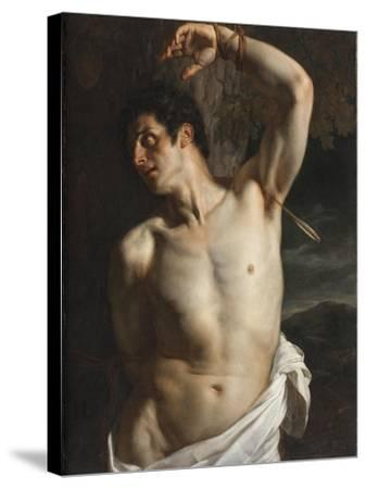 St. Sebastian-Hippolyte Delaroche-Stretched Canvas Print