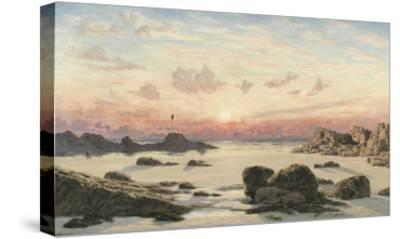 Bude Sands at Sunset, 1874-John Brett-Stretched Canvas Print