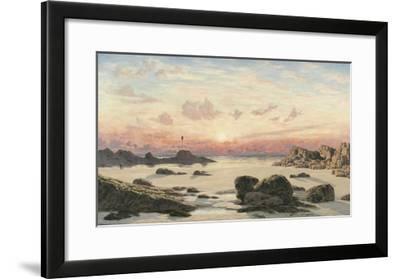 Bude Sands at Sunset, 1874-John Brett-Framed Giclee Print