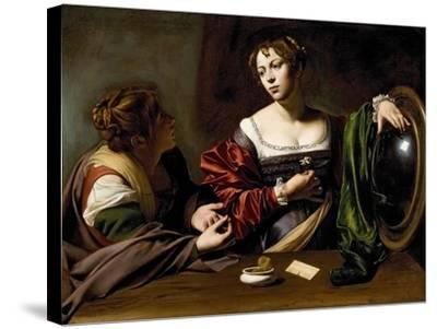 The Conversion of the Magdalene, C.1598 (Oil and Tempera on Canvas)-Caravaggio-Stretched Canvas Print