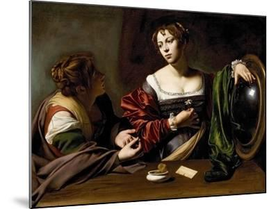 The Conversion of the Magdalene, C.1598 (Oil and Tempera on Canvas)-Caravaggio-Mounted Giclee Print