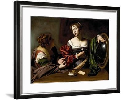 The Conversion of the Magdalene, C.1598 (Oil and Tempera on Canvas)-Caravaggio-Framed Giclee Print