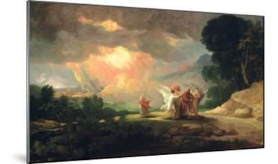 Lot Fleeing from Sodom, 1810 (Oil on Panel)-Benjamin West-Mounted Giclee Print