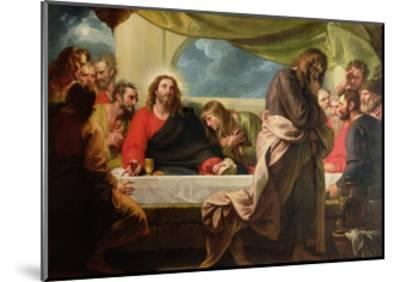 The Last Supper, 1786-Benjamin West-Mounted Giclee Print