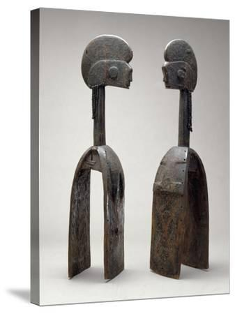 Male and Female Waja Masks, from Upper Benue River, Nigeria, 1850-1950- African-Stretched Canvas Print