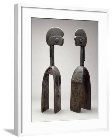 Male and Female Waja Masks, from Upper Benue River, Nigeria, 1850-1950- African-Framed Giclee Print