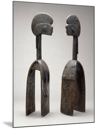 Male and Female Waja Masks, from Upper Benue River, Nigeria, 1850-1950- African-Mounted Giclee Print