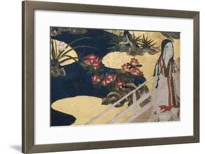Detail of Spring in the Palace, Six-Fold Screen from 'The Tale of Genji', C.1650-Japanese-Framed Giclee Print