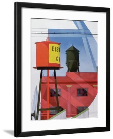 Buildings Abstraction, Lancaster, 1931 (Oil on Board)-Charles Demuth-Framed Giclee Print