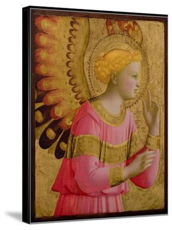 Annunciatory Angel, 1450-55 (Gold Leaf and Tempera on Wood Panel) (See also 139312)-Fra Angelico-Stretched Canvas Print