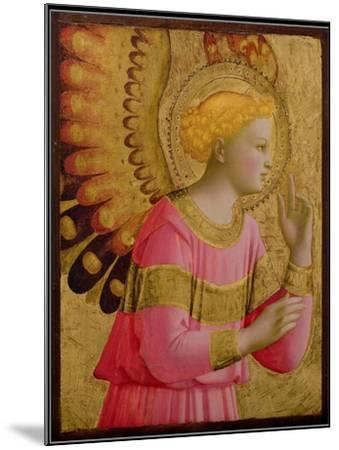 Annunciatory Angel, 1450-55 (Gold Leaf and Tempera on Wood Panel) (See also 139312)-Fra Angelico-Mounted Giclee Print