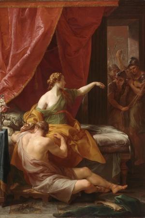 Samson and Delilah, 1766-Pompeo Batoni-Stretched Canvas Print