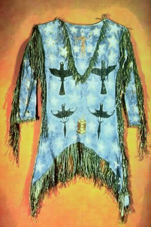 'Ghost Dance' Dress, Arapaho Tribe (Buckskin)-American-Stretched Canvas Print