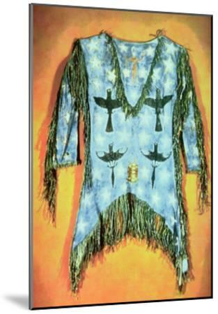 'Ghost Dance' Dress, Arapaho Tribe (Buckskin)-American-Mounted Giclee Print