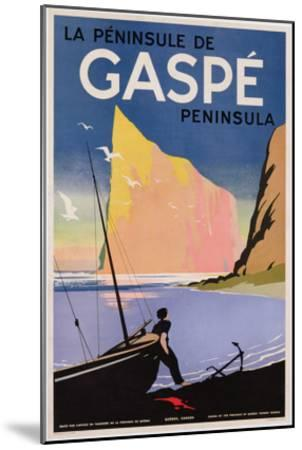 Poster Advertising the Gaspe Peninsula, Quebec, Canada, C.1938 (Colour Litho)- Canadian-Mounted Premium Giclee Print