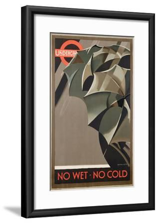 Advertisement for the London Underground, 1929 (Colour Litho)-Manner-Framed Giclee Print