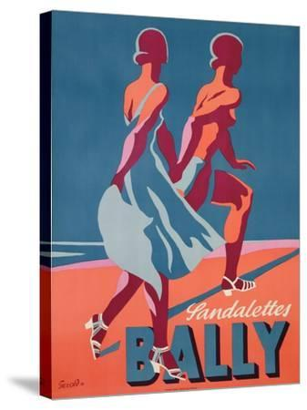 Advertisement for Bally Sandals, 1935 (Colour Litho)-Gerald-Stretched Canvas Print