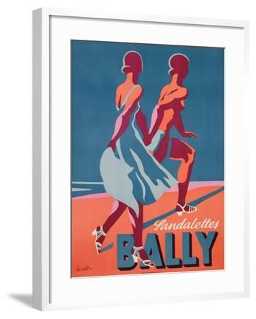 Advertisement for Bally Sandals, 1935 (Colour Litho)-Gerald-Framed Giclee Print