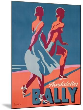 Advertisement for Bally Sandals, 1935 (Colour Litho)-Gerald-Mounted Giclee Print
