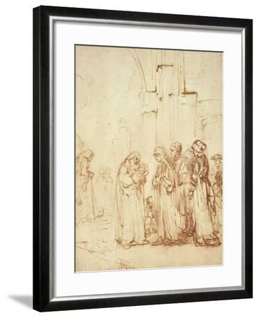 Simeon and Jesus in the Temple (Drawing) Giclee Print by Rembrandt ...