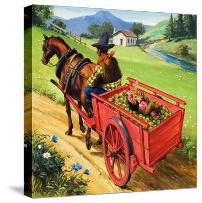 Bear Rabbit-Virginio Livraghi-Stretched Canvas Print