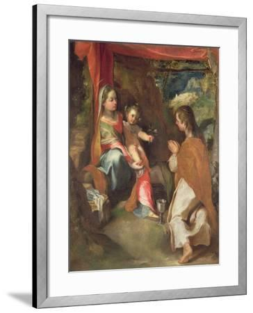 Madonna of San Giovannino with John the Evangelist-Federico Barocci-Framed Giclee Print