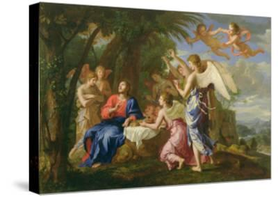 Christ Served by the Angels, c.1650-Jacques Stella-Stretched Canvas Print