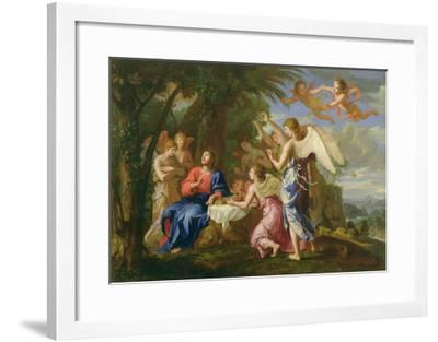 Christ Served by the Angels, c.1650-Jacques Stella-Framed Giclee Print