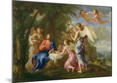 Christ Served by the Angels, c.1650-Jacques Stella-Mounted Giclee Print