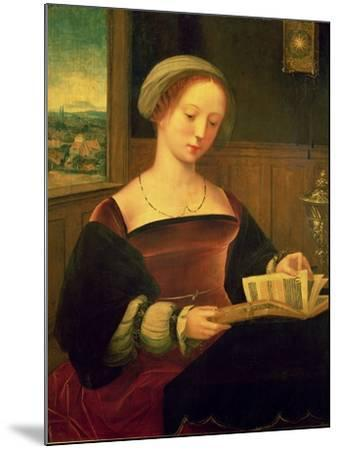 Mary Magdalene Reading (Oil on Panel)- Master of Female Half Lengths-Mounted Giclee Print