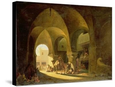 Numerous Figures in a North African Bazaar, 1839-Charles Theodore Frere-Stretched Canvas Print