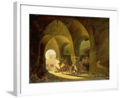 Numerous Figures in a North African Bazaar, 1839-Charles Theodore Frere-Framed Giclee Print