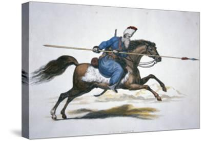 Russian Don Cossack, C.1820 (W/C on Paper)-T. Kelly-Stretched Canvas Print