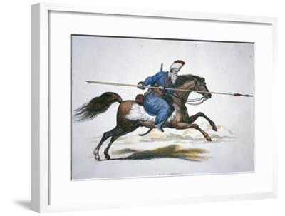 Russian Don Cossack, C.1820 (W/C on Paper)-T. Kelly-Framed Giclee Print
