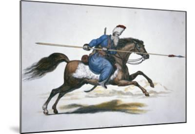 Russian Don Cossack, C.1820 (W/C on Paper)-T. Kelly-Mounted Giclee Print