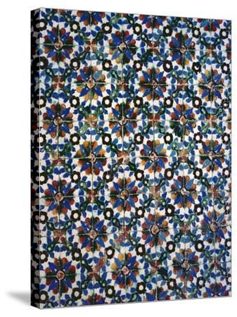 Azuleyos Tiles (Ceramic)--Stretched Canvas Print