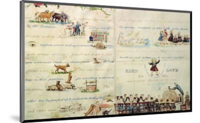 A Christmas Letter Written with Pictograms-John Everett Millais-Mounted Premium Giclee Print