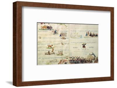 A Christmas Letter Written with Pictograms-John Everett Millais-Framed Premium Giclee Print
